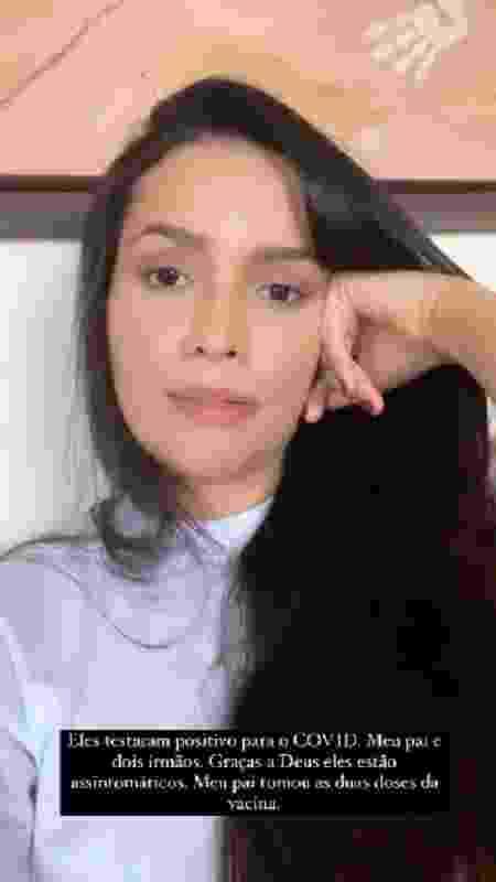 Juliette Freire fala de familiares com covid-19 - Reprodução/Instagram - Reprodução/Instagram