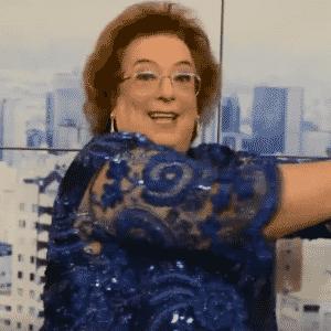 """Mamma Bruschetta admite """"escapadas"""" da dieta nos bastidores do """"Mulheres"""" - Reprodução/TV Gazeta"""