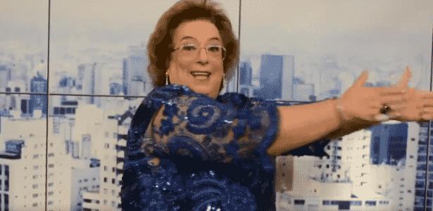 """Mamma Bruschetta dança o funk """"Tá Tranquilo, Tá Favorável"""" no cenário do """"Mulheres"""" - Reprodução/TV Gazeta"""