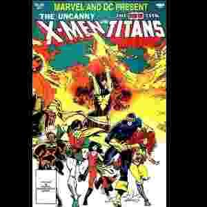 """Capa de """"X-Men vs Novos Titãs"""" (Chris Claremont e Walt Simonson, 1982) - Reprodução"""