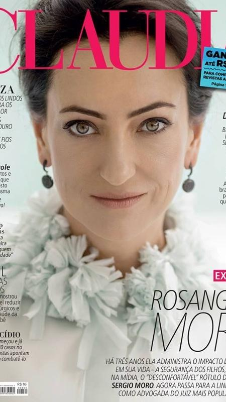 """A advogada Rosangela Moro, mulher do juiz Sergio Moro, na capa da revista """"Claudia"""" - Reprodução/Claudia"""