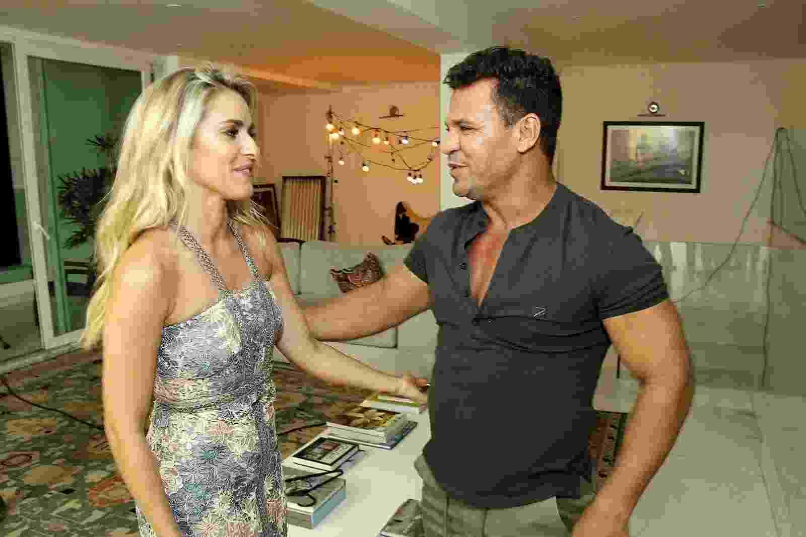 """Eduardo Costa grava clipe de """"Forró e Paixão"""" com a atriz Monique Alfradique - Marcos Ferreira / Brazil News"""