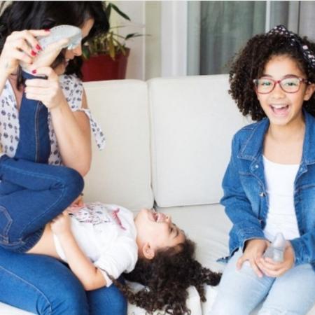 Samara Felippo com as filhas, Lara e Alicia - Reprodução/Instagram/sfelippo