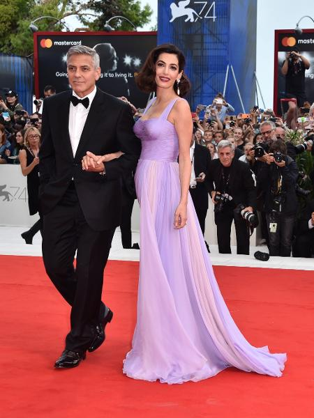 Amal e George Clooney, em Veneza - Getty Images