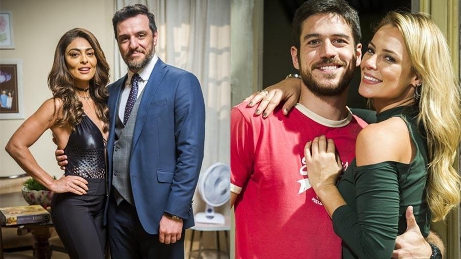 Bibi (Juliana Paes) e Caio (Rodrigo Lombardi) têm final feliz; Zeca (Marco Pigossi) e Jeiza (Paolla Oliveira) também terminam juntos e devem ter filhos - João Miguel Júnior/Globo