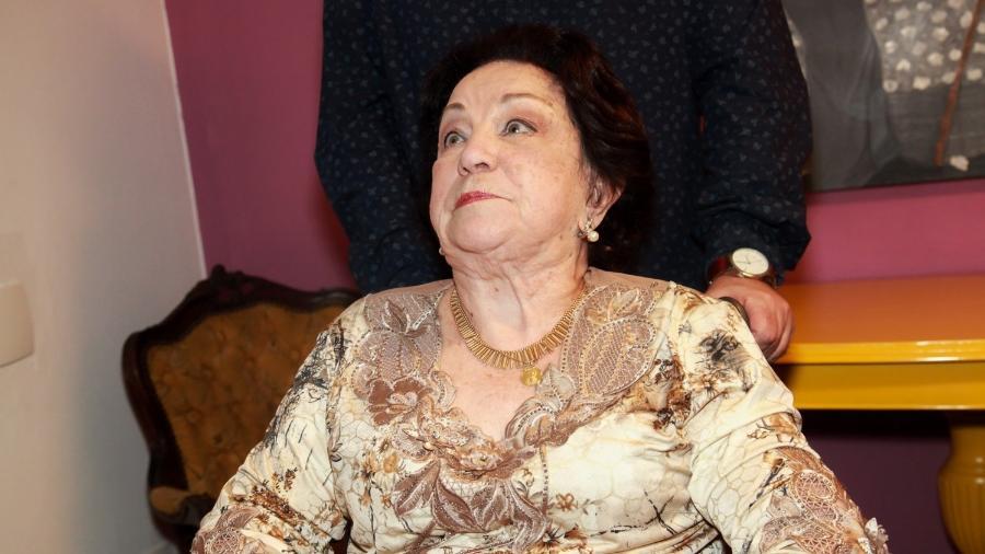 "A atriz Lolita Rodrigues, aos 88 anos, assiste ao espetáculo ""Hebe, O Musical"" - Marcos Ribas/Brazil News"