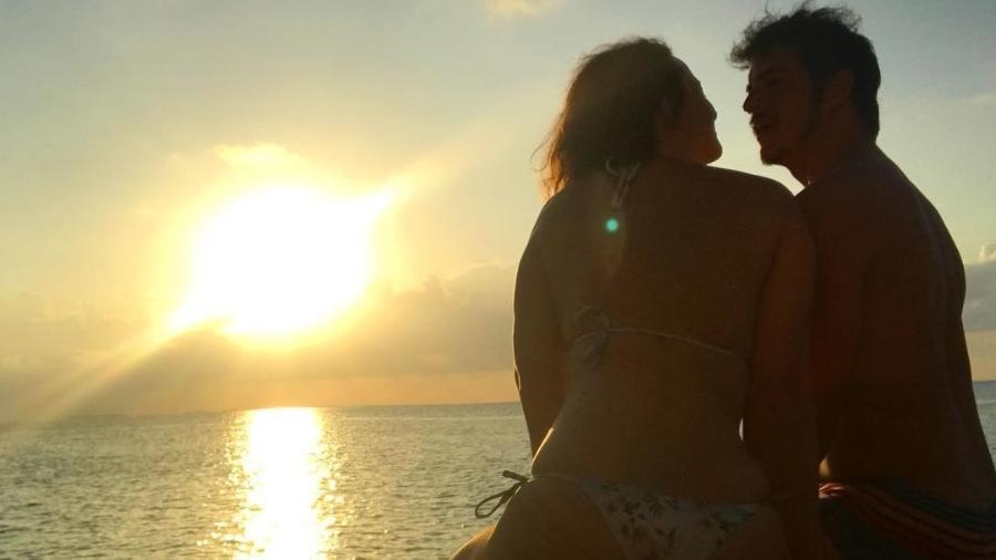 Paula Braun e Mateus Solano nas Maldivas - Reprodução/Instagram