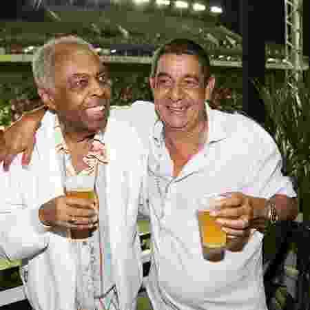 Zeca Pagodinho se encontrou com Gilberto Gil no camarote - Cláudio Augusto/Brazil News - Cláudio Augusto/Brazil News