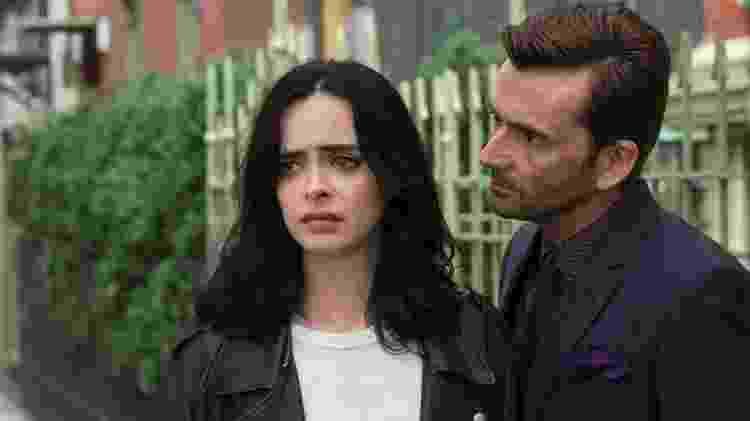 Kilgrave (David Tennant) atormenta Jessica Jones (Krysten Ritter) em cena da segunda temporada da série da heroína - David Giesbrecht/Netflix - David Giesbrecht/Netflix