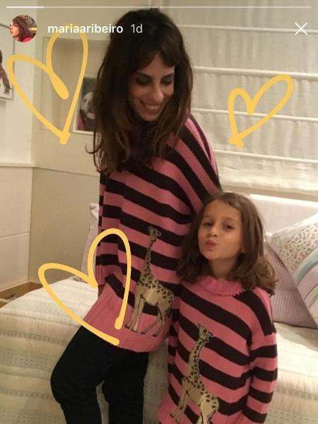 Maria Ribeiro e a filha Fabio Assunção, Ella Felilpa - Reprodução/Instagram/mariaaribeiro