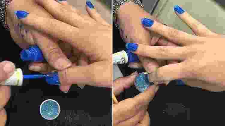 Unha azul - Vinicius Mochizuki/Divulgação - Vinicius Mochizuki/Divulgação