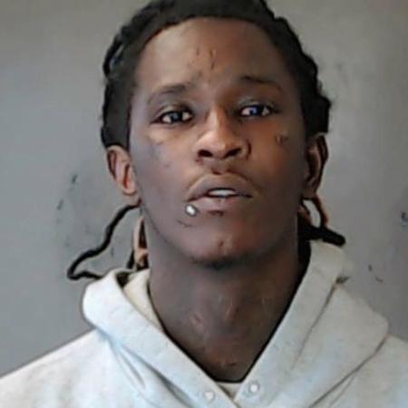 O rapper Young Thug em foto de sua ficha criminal do condado de DeKalkb - Getty Images