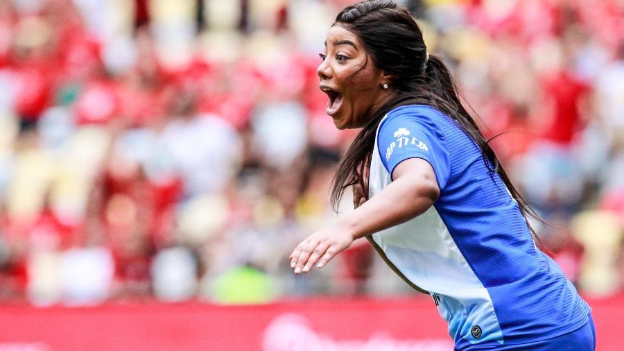Ludmilla durante o Jogo das Estrelas, no Maracanã - Brazil News