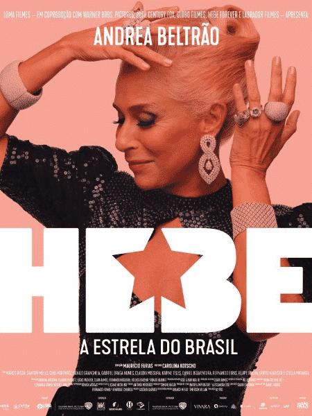 Andrea Beltrão em pôster de Hebe - A Estrela do Brasil - Reprodução