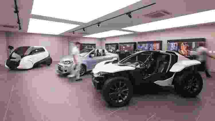 Sala exibe alguns protótipos projetados no centro de design multimarcas da FCA em Betim (MG) - Divulgação