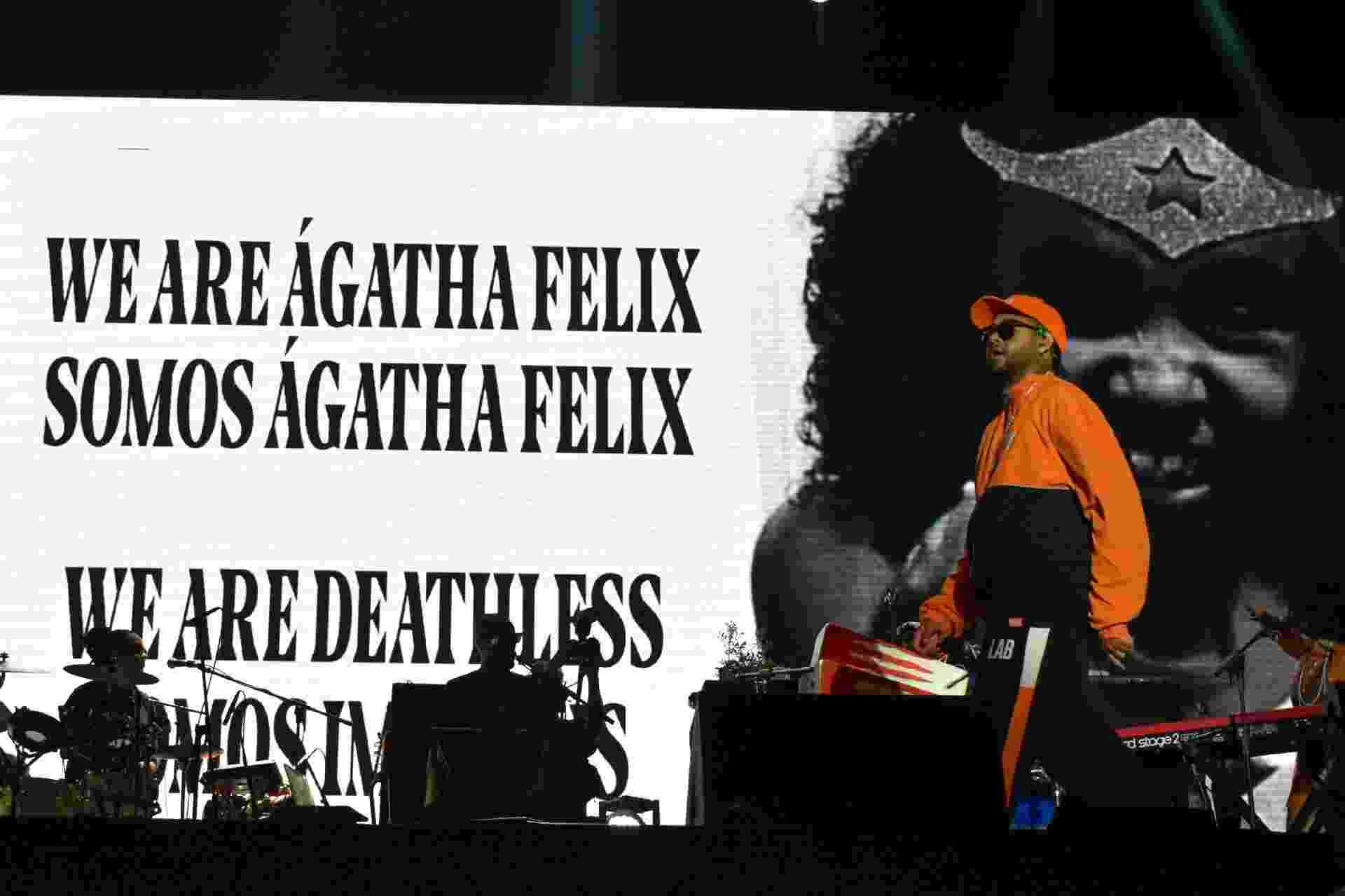 Emicida faz homenagem à menina Ágatha Félix no Rock In Rio 2019 - FERNANDA BALSTER/FOTOARENA/ESTADÃO CONTEÚDO