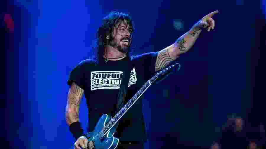 Dave Grohl, do Foo Fighters, comanda show no Rock in Rio 2019 - Mauro Pimentel/AFP