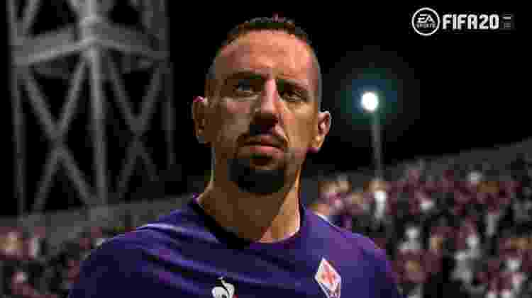Na atualização do FIFA 20, Ribéry teve o rosto alterado após reclamar dos gráficos no Twitter - Reprodução/EA