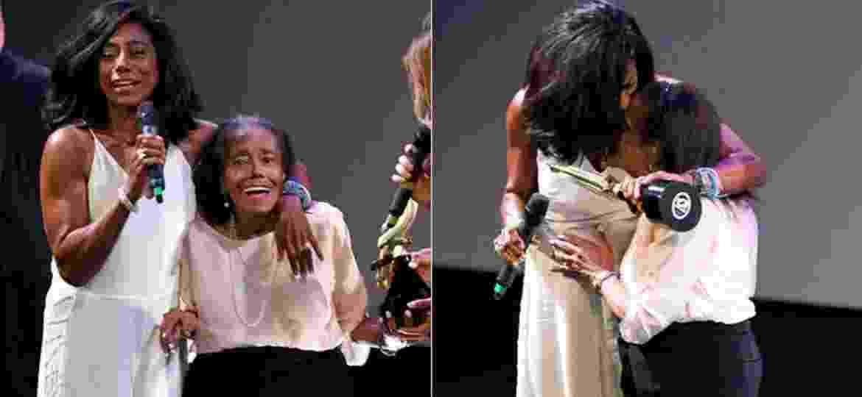 Gloria Maria faz homenagem a mãe durante entrega de prêmio em 2014 - Roberto Filho/Brazil News