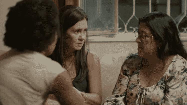 Rita, Thelma e Lurdes em 'Amor de Mãe' - Reprodução/Globo