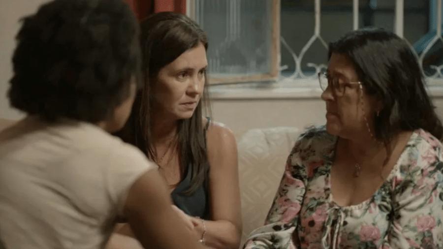 """Rita, Thelma e Lurdes em """"Amor de Mãe"""" - Reprodução/Globo"""
