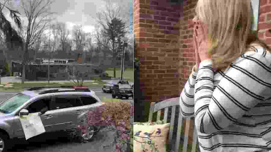 A filha da aniversariante conta que a mãe ficou emocionada com a ação - Reprodução/Twitter