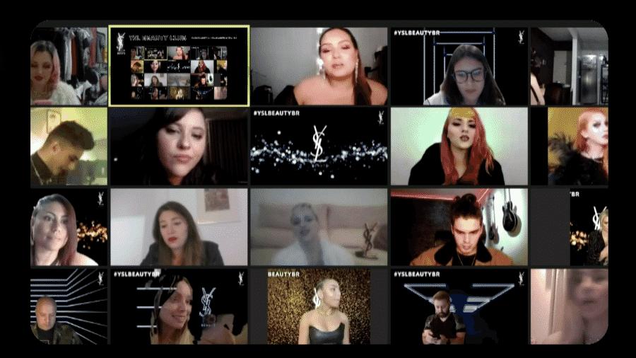 A vista da festa online, cuja sala principal era a pista de dança - Divulgação
