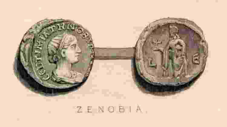 Moedas do século 3 com imagem de Zenóbia - GETTY IMAGES - GETTY IMAGES