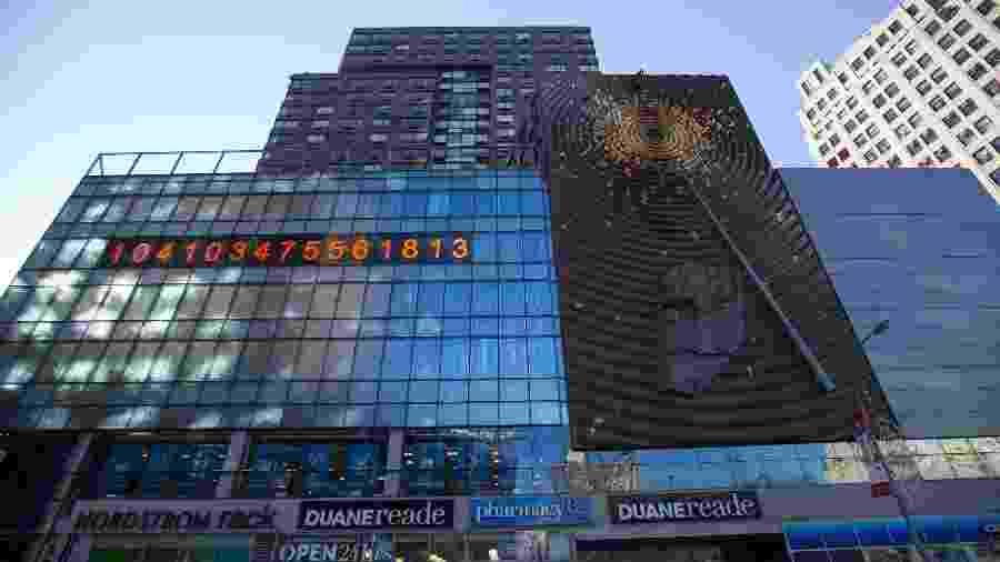 Relógio Metronome, em Union Square, na cidade de Nova York - Ben Hider/Getty Images