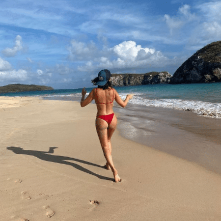 Fernanda Paes Leme arrancou elogios ao postar lembrança de férias em Noronha - Reprodução/Instagram