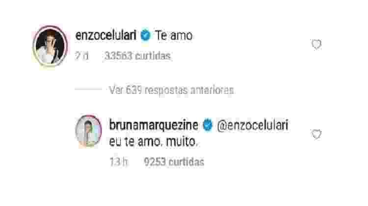 Bruna Marquezine e Enzo Celulari se declaram na web - Reprodução/Instagram - Reprodução/Instagram