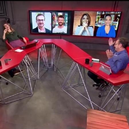 """Jornalistas participam de brincadeira no """"Estúdio i"""" - Reprodução/GloboNews"""