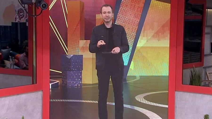BBB 21: Tiago Leifert em noite de eliminação, prova do líder e formação de paredão - Reprodução/Globo