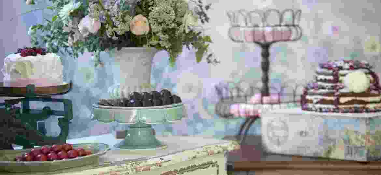 Os doces e a decoração do casamento de Bruna e Renato tinham tudo a ver com os noivos - Maíra Preto/ Divulgação