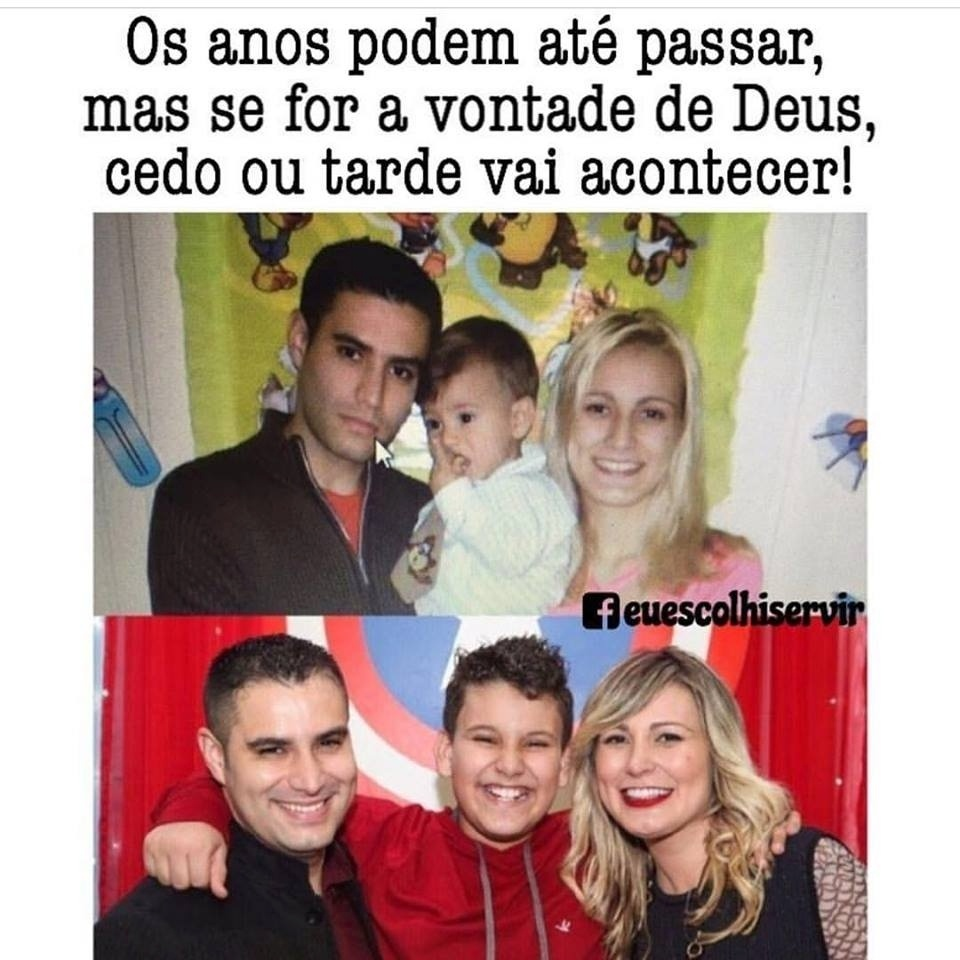 05.out.2016 - Andressa Urach posta foto do antes e depois com o marido e o filho
