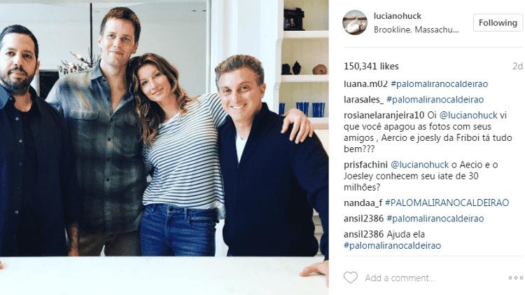 Luciano Huck é questionado sobre foto com Joesley Batista - Reprodução/Instagram - Reprodução/Instagram