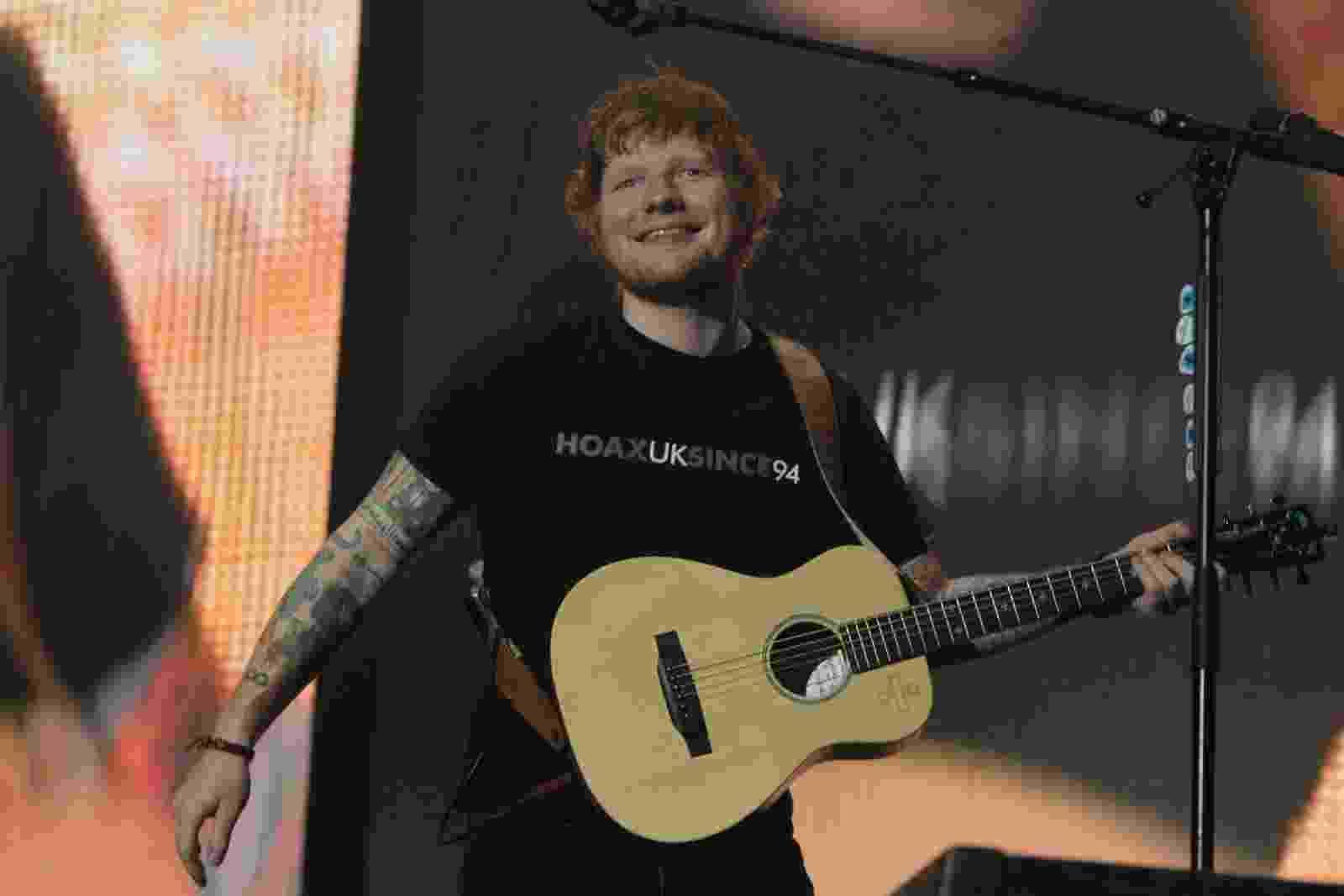 """Ed Sheeran apresenta no Rio de Janeiro o show da turnê """"Divide"""" na arena Jeunesse, no Recreio dos Bandeirantes - Marcelo Sá Barreto/Ag News"""