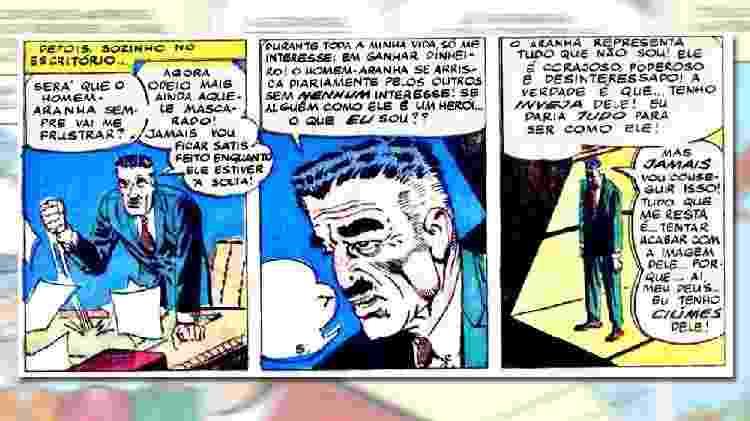 J. Jonah Jameson tem ciúmes do Homem-Aranha - Arte/UOL Jogos - Arte/UOL Jogos