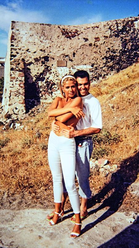 Marco Antônio de Biaggi e Adriane Galisteu em 1995 - Divulgação