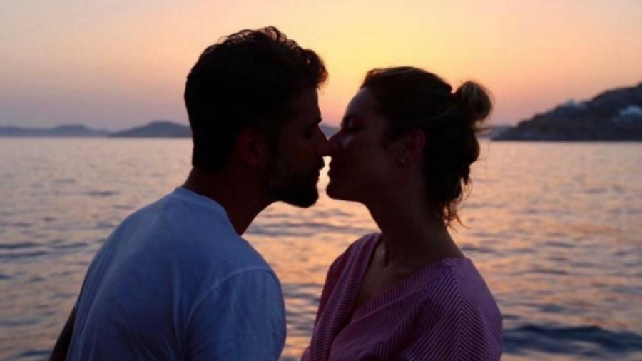 Bruno Gagliasso e Giovanna Ewbank na Grécia - Reprodução/Instagram/brunogagliasso