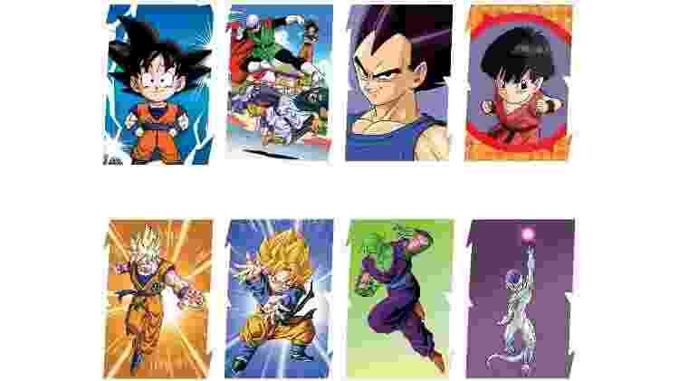 """Álbum terá figurinhas de personagens de todas as fases de """"Dragon Ball Z"""" - Divulgação/Panini"""