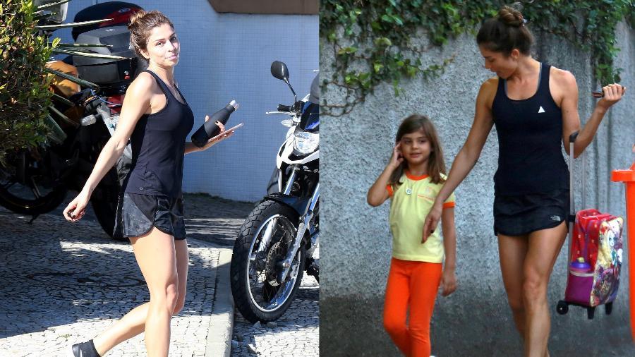 Após malhação,Grazi Massafera busca Sofia na escola - Dilson Silva/Ag.News