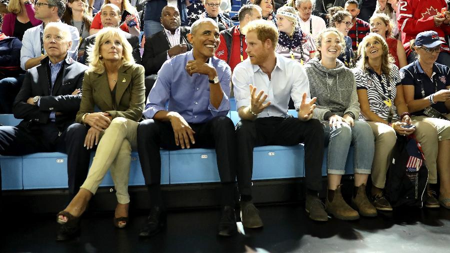 Barack Obama e o príncipe Harry - Getty Images