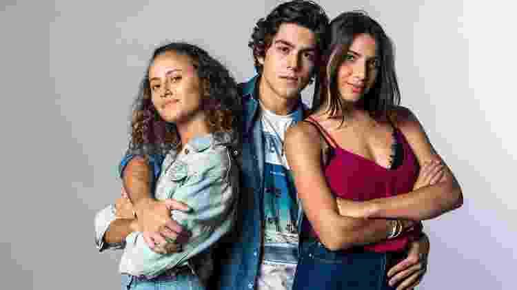 Maria Alice (Alice Milagres), Alex Fortes (Daniel Rangel) e Perola (Rayssa Brasileira) - Raquel Cunha/TV Globo - Raquel Cunha/TV Globo