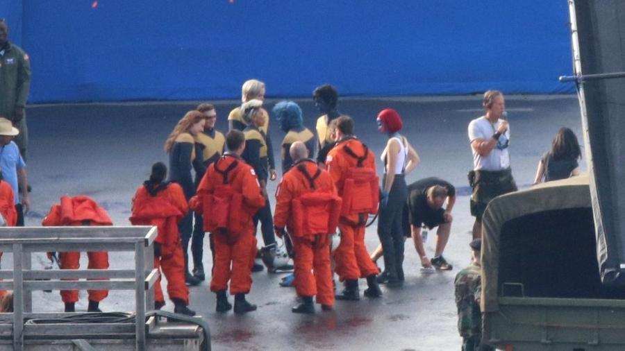"""Bastidores da filmagem de """"X-Men: Fênix Negra"""" - Reprodução"""
