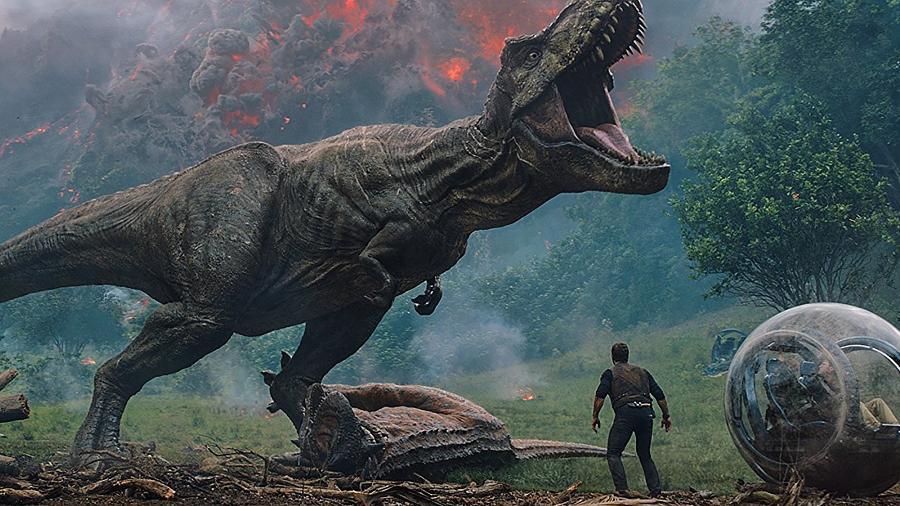 """Chris Pratt em cena de """"Jurassic World: Reino Ameaçado"""" - Divulgação"""