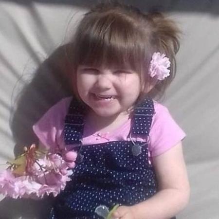 """Ava-May Littleboy foi arremessada ao ar quando o pula-pula inflável onde estava """"estourou"""". - Arquivo pessoal"""