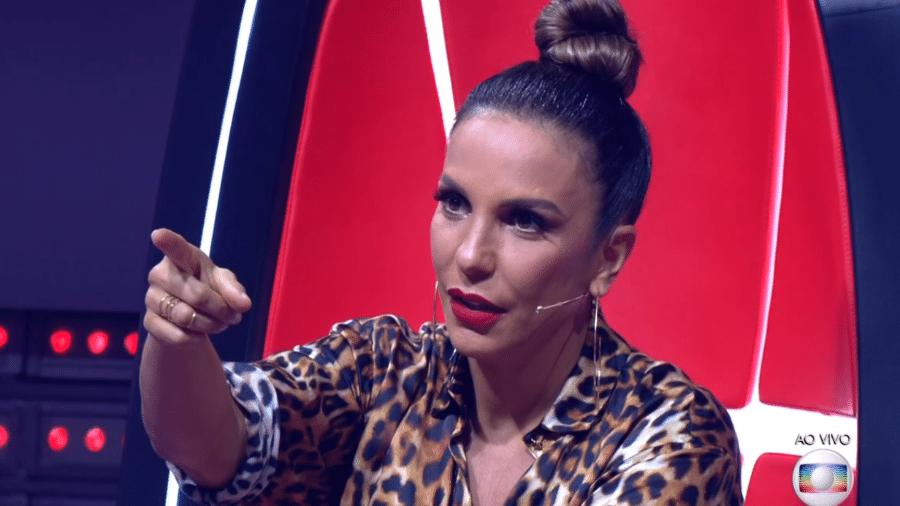"Ivete Sangalo no ""The Voice Brasil"" - Reprodução/TV Globo"