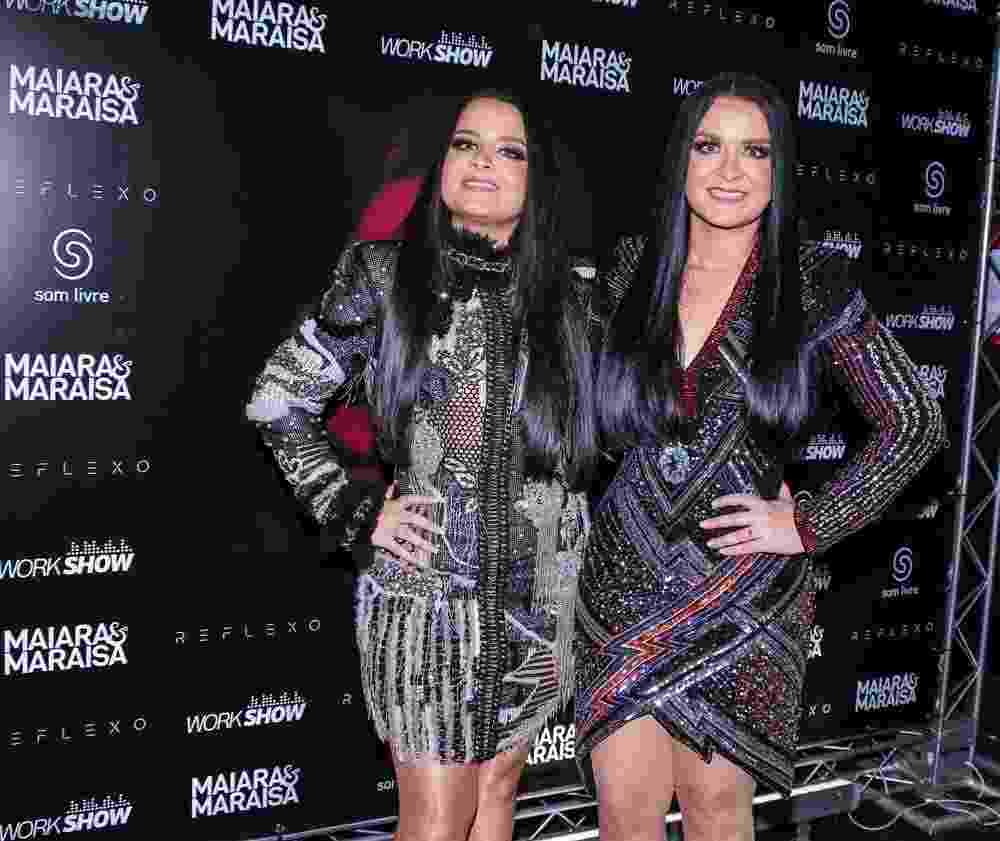 Maiara e Maraísa gravaram o novo DVD no espaço das Américas, na zona oeste de São Paulo, na terça-feira (9) - Thiago Duran/Ag.News
