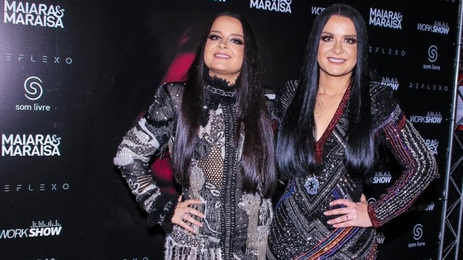 Maiara e Maraisa durante gravação do DVD no Espaço das Américas, na zona oeste de São Paulo - Thiago Duran/Ag.News